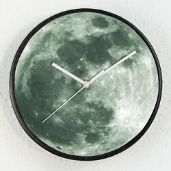 Glow in Dark Moon Children Room Wall Clock