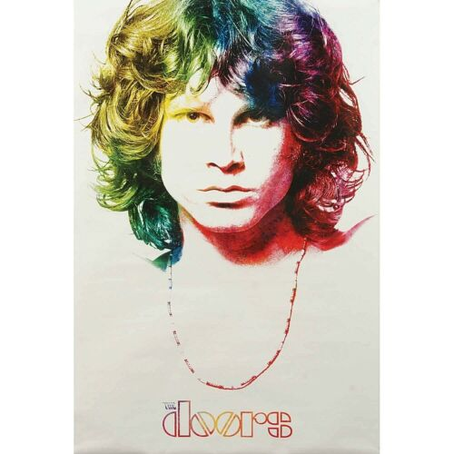 The Doors Multi Colored Poster Jim Morrison Face Photo