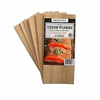 "6 Pack Cedar Grilling Planks - 5x11"" For Salmon, Chicken, Fruits Veggies & More!"