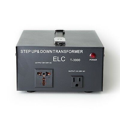 3000 Watt Voltage Converter Transformer Heavy Duty Step Up Down 3000W 110 220V