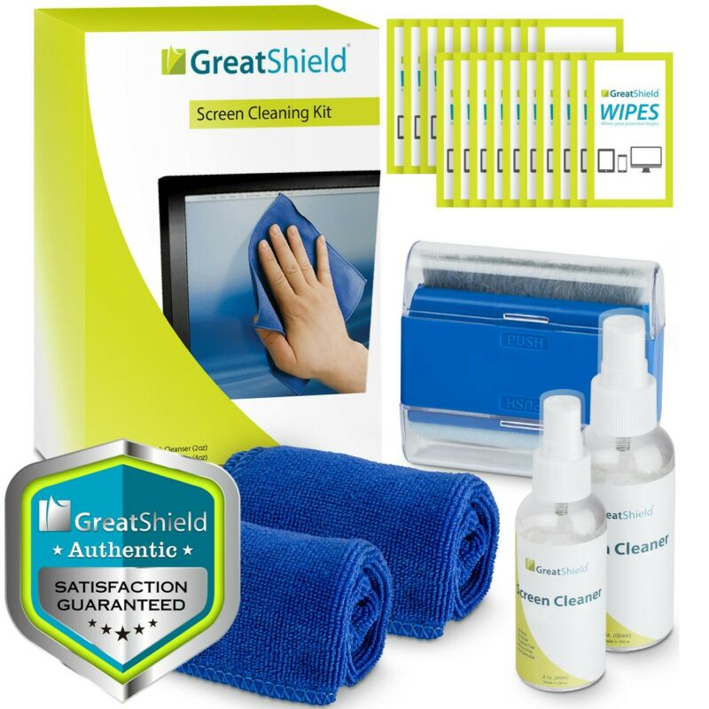6in1 Screen Cleaning Kit Cloth Wipe Brush TV Tablet Laptop Computer Lens Cleaner
