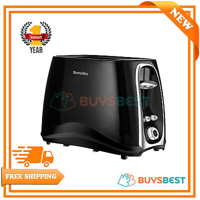 Breville 2-Slice Toaster Black With Defrost, Reheat & Cancel
