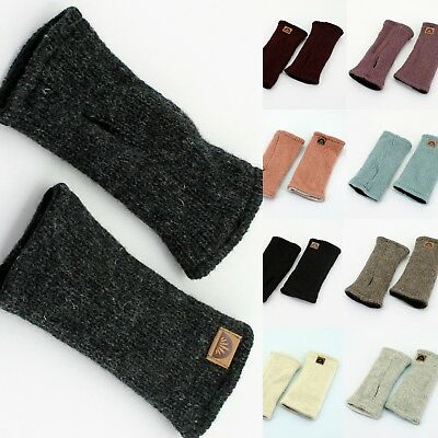 Warme Stulpe_Fingerlose_Pulswärmer_100% Wolle_Stulpen_Armstulpen_Handschuhe Warme Wolle Handschuhe