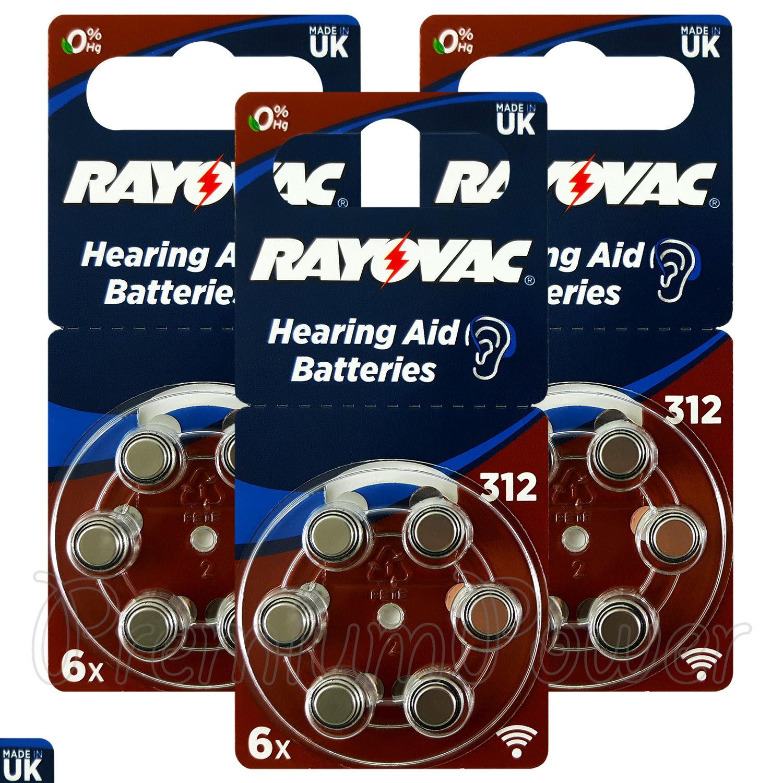 Rayovac Hearing Aid 312 Size Special batteries Zinc air Merc