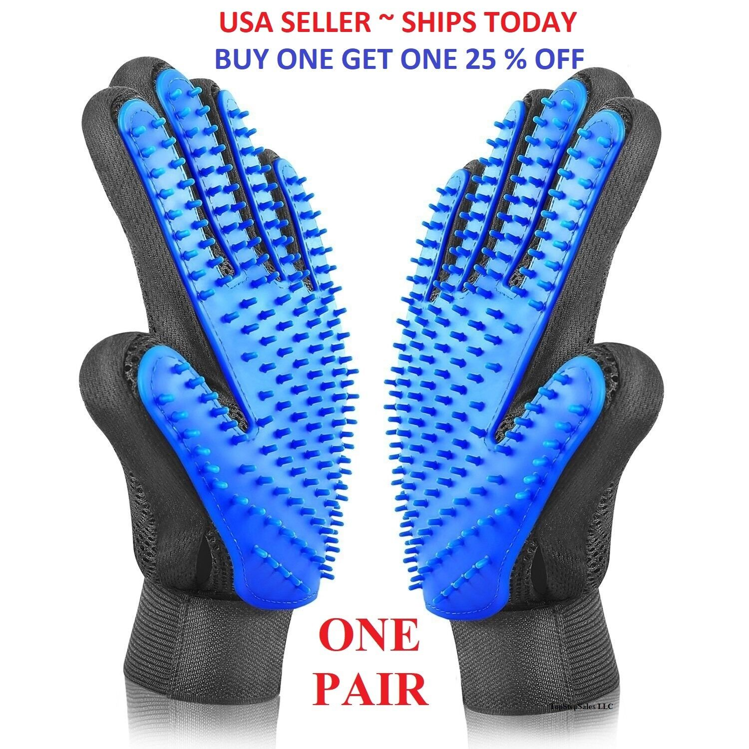 Pet Hair Brush Silicone Comb Dog Cat Grooming Massage Soft Bath Shedding Glove
