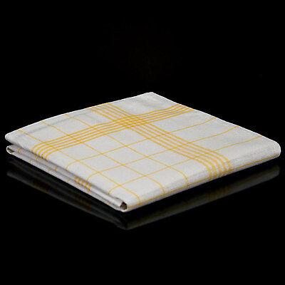200 Geschirrtücher Halbleinen Gelb 50 x 70 cm gelbes Geschirrtuch Küchentuch