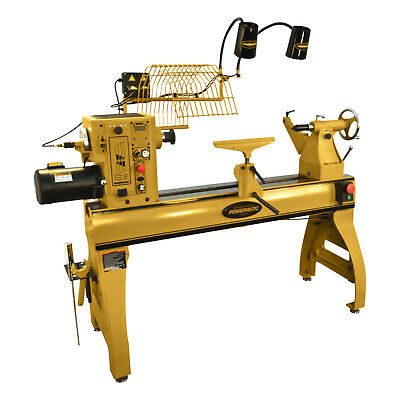 Powermatic 1794224b Variable Speed Bench Top Woodworking Lathe With Lamp Kit