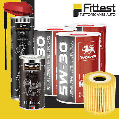 Kit Tagliando Filtro Olio Smart 450 451 ForTwo 3L Olio 5W30 + Additivo + Sblocc.
