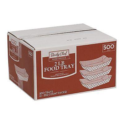 500 Paper Food Tray 2lb Nachos Popcorn Hot Dogs