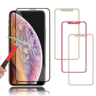 For iPhone X/XS Max/XR Full Coverage Tempered Glass Screen Protector Cover Film