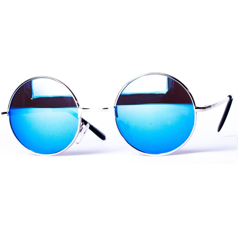 Sonnenbrille Nickelbrille mit runden Gläsern und Federscharnieren