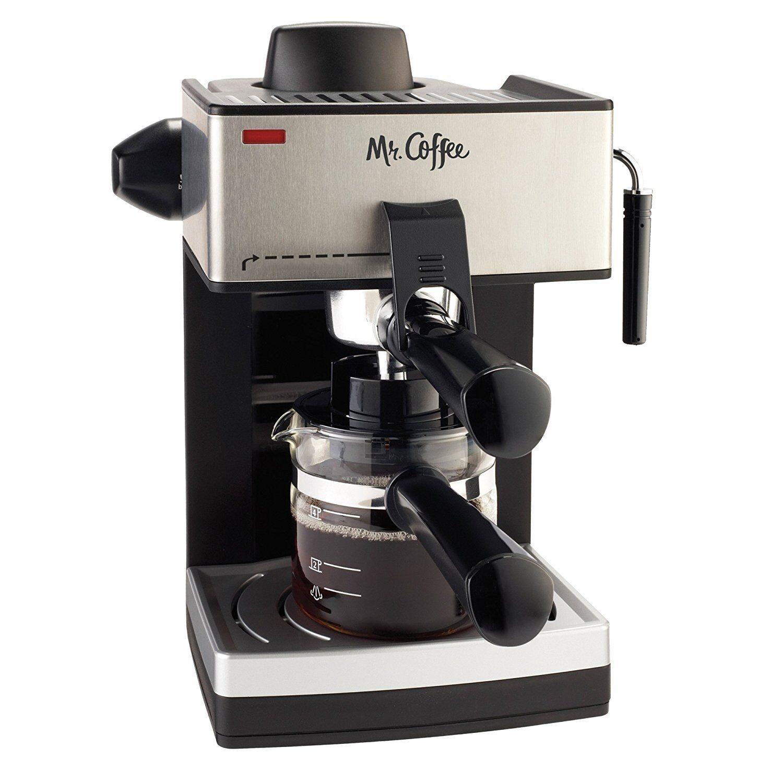4 cup steam espresso maker coffee machine
