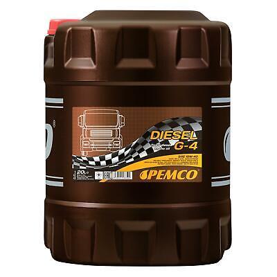 20 (1x20) Litro Pemco SAE 15W-40 Diesel G-4 Shpd Aceite TS-4