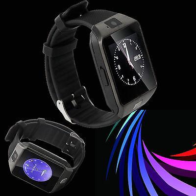 Cawono DZ09 Bluetooth Smart Watch GSM SIM For iPhone Samsung Android Phone Black