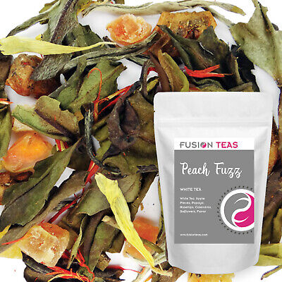 Peach Fuzz White Tea - Premium Loose Leaf Blend - Fusion Teas Loose White Tea