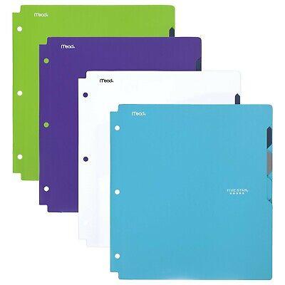 Five Star Pocket Folder 4-pocket Plastic Folder Quick-view 11-58 X 10-3...