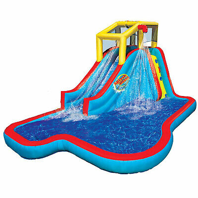 Banzai Slide N Soak Splash Park Inflatable Outdoor Kids Water...