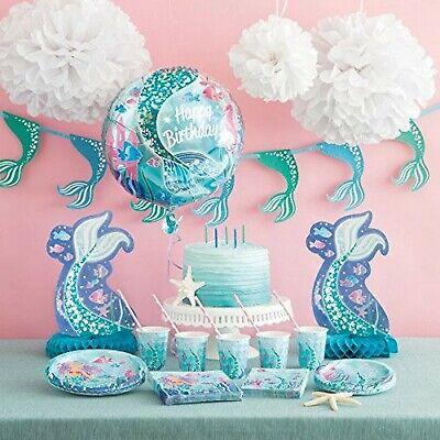 Kinder-Geburtstag Party Deko Dekoration Meerjungfrau Mermaid Auswahl Set (Junge Geburtstag Party)
