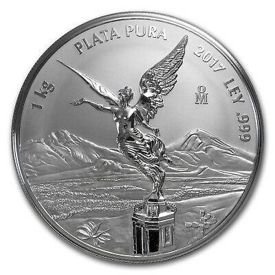 2017 Mexico 1 kilo Silver Libertad Proof Like (w/Box & COA)