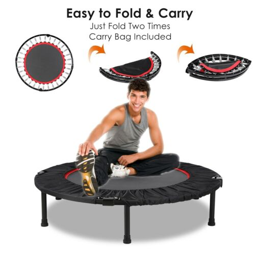 40'' Mini Trampoline Indoor Outdoor Children Safe Jumping Ad