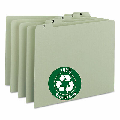 Smead Recycled Top Tab File Guides Daily 15 Tab Pressboard Letter 31set 50369