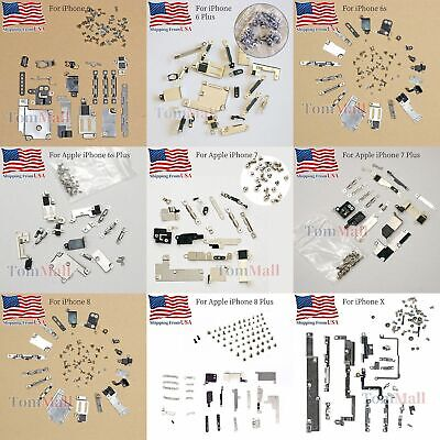 New Full Set Metal Bracket Plate Cover Full Screw For iPhone 6 6s 7 8 Plus X Cover Plate Set