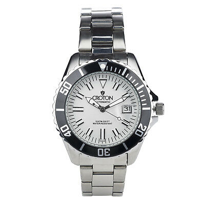 Croton Men's CA301294BKSL Automatic Date Silver-Tone Bracelet 42mm Watch