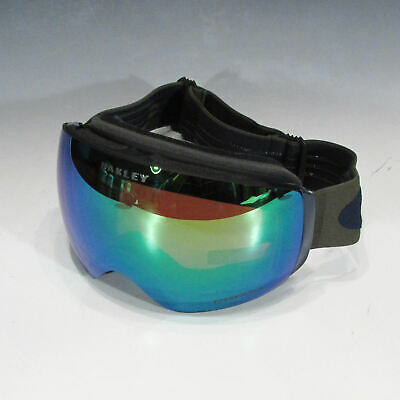 Oakley Flight Deck XM Ski Goggles (Canteen Navy, PRIZM Snow Jade Iridium Lens)