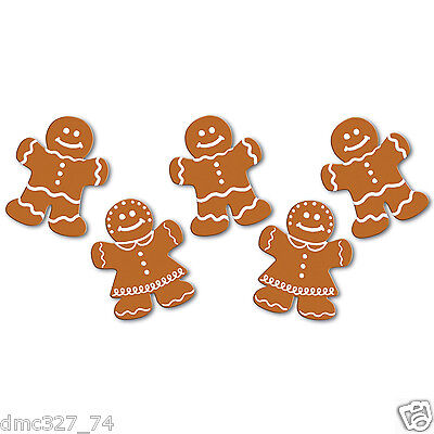 Christmas Cutouts (10 CHRISTMAS Holiday Party Decorations Paper Mini DIE CUT GINGERBREAD CUTOUTS)