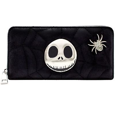 Official Nightmare Before Christmas Quilted Web Coin & Card Clutch Purse *SECOND