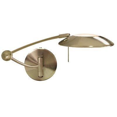 Searchlight 1 Light LED Antique Brass Adjustable Swing Arm Indoor Wall Bracket