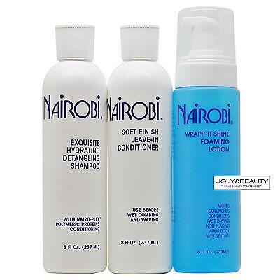 Nairobi Exquisite Hydrating Detangling Shampoo + Leave-In + Wrap-it Shine Set Hydrating Detangling Shampoo
