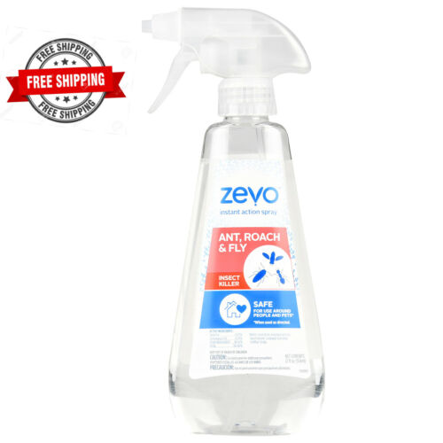Zevo Instant Action 12 oz. Spray Multi-Insect Killer Ants Roaches Fly Mosquito