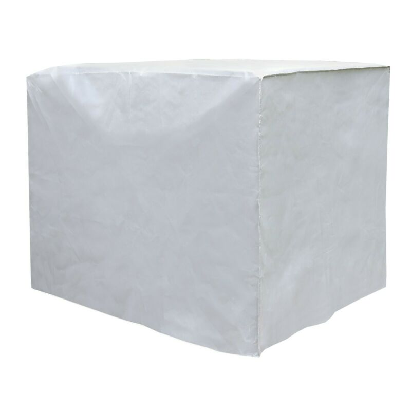 Square Outdoor Air Conditioner Cover - A/C Unit Winter Weather Protector - Gray