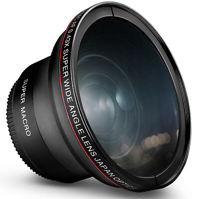 55MM 0.43x Altura Photo Professional Wide Angle Lens w/ Macro for Nikon and Sony