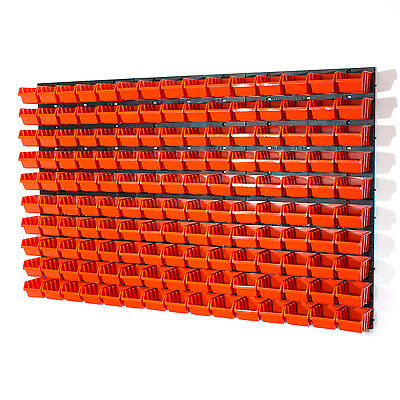 156 tlg.Wandregal Lagerregal Stapelboxen Orange POP Serie Gr. 1 In Box Platten