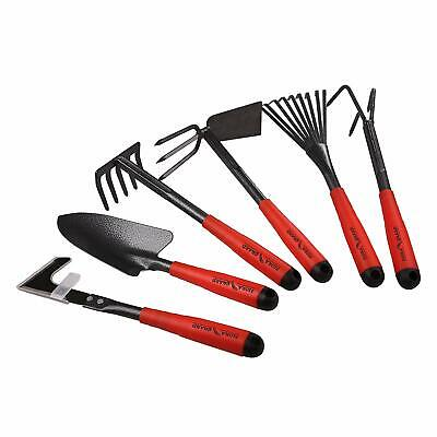 6 Piece Garden Tool Sets, Hand Tools with High Carbon Steel Heads Rust-proof
