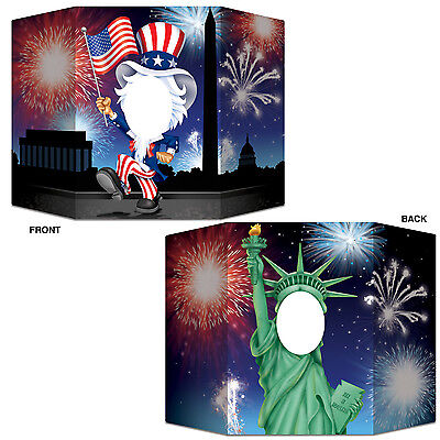Statue of Liberty & Uncle Sam Photo Prop - USA American Independence Day Party (Uncle Sam Party)