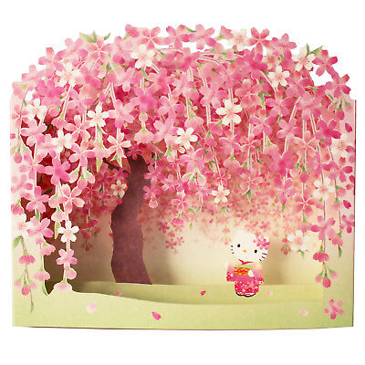 Hello Kitty w/ Cherry Blossom Pop Up Decorative Greeting Card