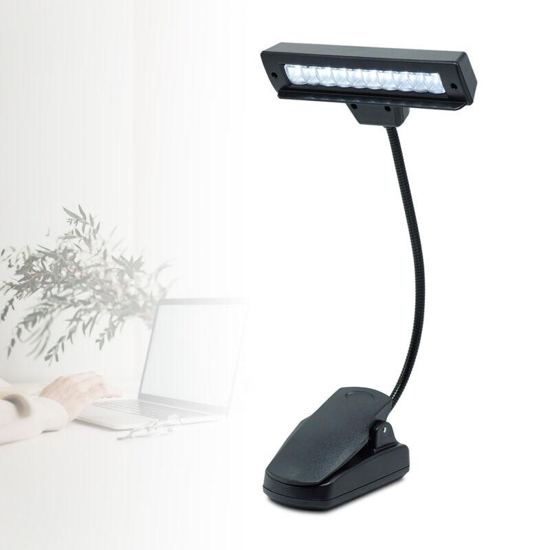 Music Stand Light, 10 LED Clip-On Light - Book/Desk/Travel Light - Rechargeable