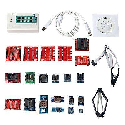 TL866CS Minipro Programmer 21 Adapters 21 IC Clip Clamp AVR PIC Bios MCU