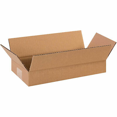 14 X 6 X 2 Flat Corrugated Boxes 65 Lbs Capacity 200ect-32 Lot Of 25