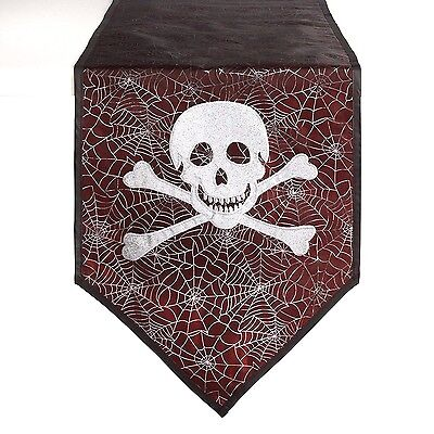 er Shiny Skull and Crossbones 13 x 72 Party Decoration Decor (Halloween Runner)