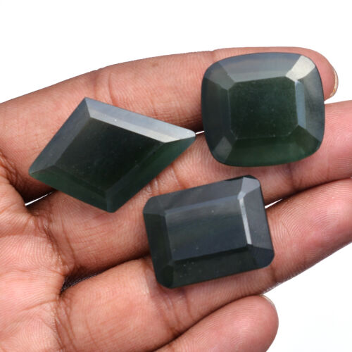 96.00 Cts Natural Serpentine Untreated Huge Faceted Cut Gemstones 25mm-35mm