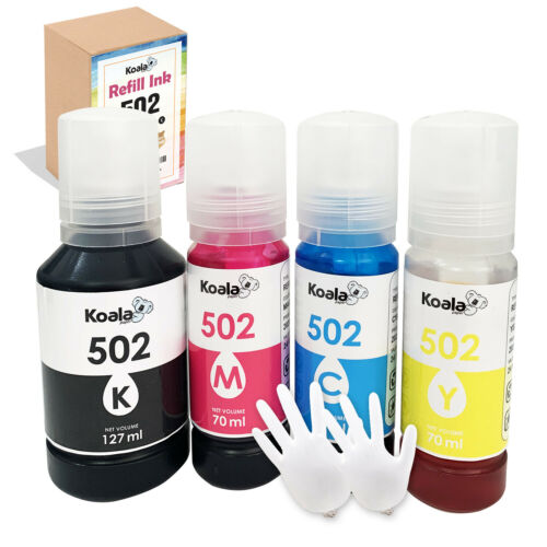 Refill Ink For Epson 502 T5021-T5024 ET-2700 2750 2760 3710 3750 3760 4750 4760