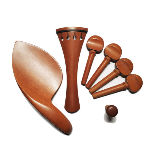 4/4 Violin Jujube Wood Fitting Tailpiece Chinrest Pegs Endpin Antique Violin Peg