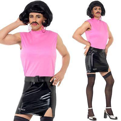 Mens Freddy Mercury Queen Break Free Costume Music Pop Star Fancy Dress New