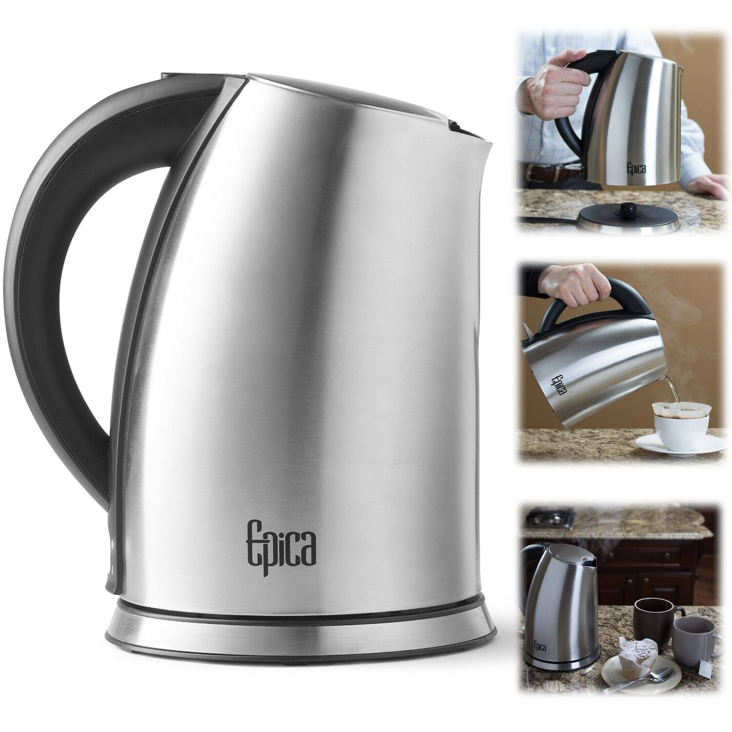 Electric Water Pot ~ Cordless electric kettle litre stainless steel coffee