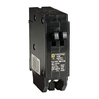 Single Pole Tandem Circuit Breaker 1520 Amp 120240 Vac Square D Homeline