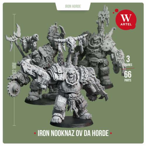 Ork Iron Nookhaz ov da Horde 28mm miniature by Artel W
